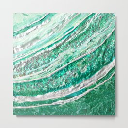 Green Crystal Ⅱ Metal Print