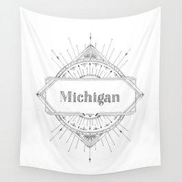 Art Deco Michigan Wall Tapestry
