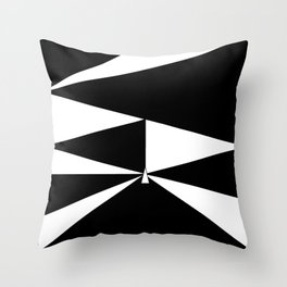 Triangles in Black and White Throw Pillow