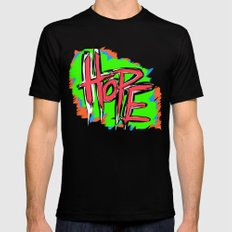 Hope (retro neon 80's style) Mens Fitted Tee X-LARGE Black