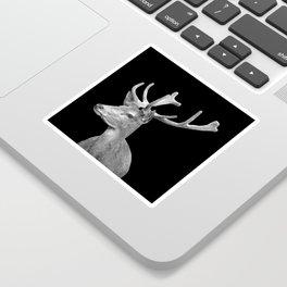 Deer Black Sticker