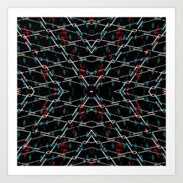 Musical natural sign symbols pattern Art Print