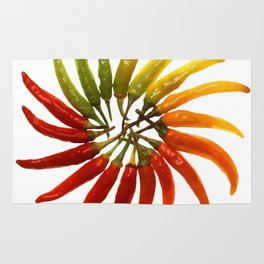 Chili Color Wheel Vector Rug