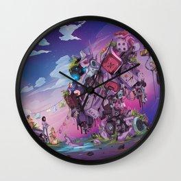 Cat Fort Wall Clock