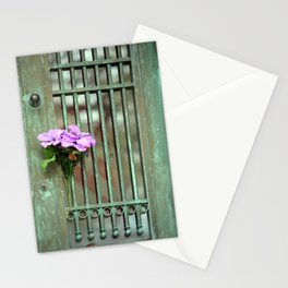 Door With Flowers Stationery Cards