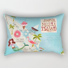 Anna Maria Island Map Rectangular Pillow