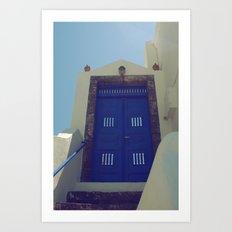 Santorini Door VII Art Print