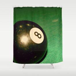 Eight Ball-Green Shower Curtain
