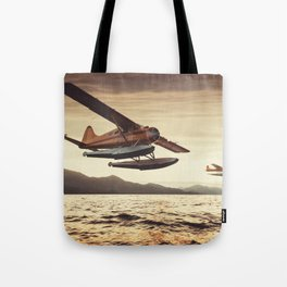 Flying in the Sunset Tote Bag