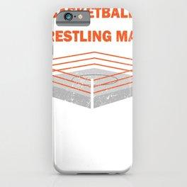 Wrestling Mats Tournament Fight Hobby Sport Gift iPhone Case
