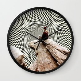 Illusionary Cliff Wall Clock