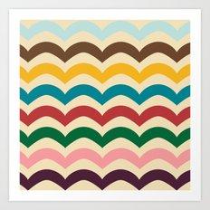 sweet summer waves Art Print