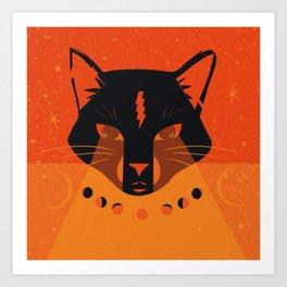 Black Cat Mystic Oracle Art Print
