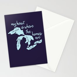 My Heart is Where the Homes Are Great Lakes Stationery Cards