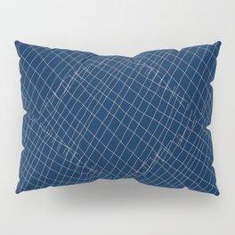 Japanese shibori dark blue indigo sapphire white Pillow Sham