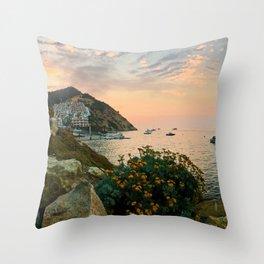 Hamilton Cove, Catalina Island Throw Pillow