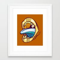 mouth Framed Art Prints featuring Mouth by Artistic Dyslexia