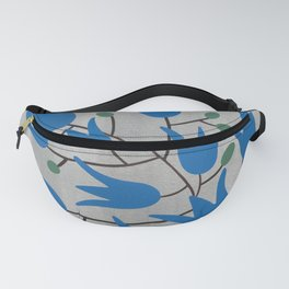 Blue Bell Flowers – Scandinavian Folk Art Fanny Pack