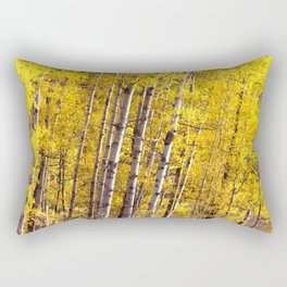 Yellow Grove of Aspens Rectangular Pillow