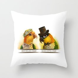 Mr & Mrs Caique Realistic Painting Throw Pillow