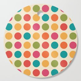 Mid Century Color Dots Cutting Board
