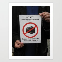 Street Vendor 5th Avenue NYC - No Photos Art Print