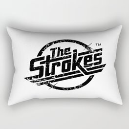 the strokes in black Rectangular Pillow