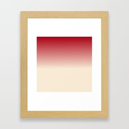 Antique White and Christmas Red Gradient Colors Framed Art Print