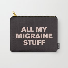 All My Migraine Stuff™ (Pink on Black) Carry-All Pouch