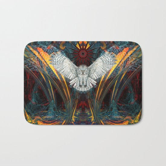 The Great Grey Owl Bath Mat