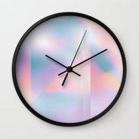 prism Wall Clocks featuring Prism by Marta Olga Klara