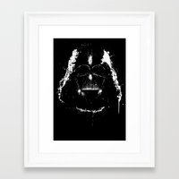 vader Framed Art Prints featuring Vader by Purple Cactus