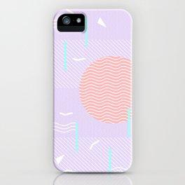 Memphis Summer Lavender Waves iPhone Case