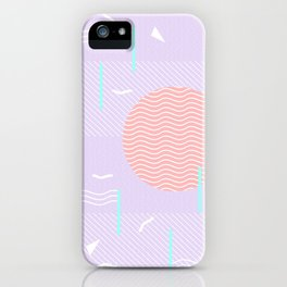 Memphis Summer Lavender Waves iPhone Case