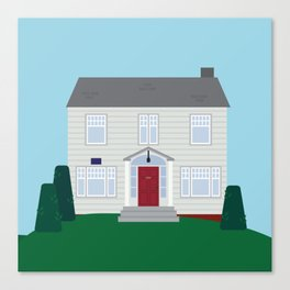 Daily Orange House Canvas Print