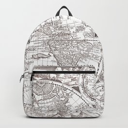 World map wall art 1594 dorm decor mappemonde Backpack