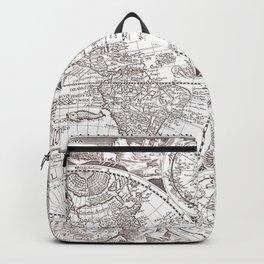 World map wall art 1594 dorm decor mappemonde Backpack