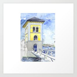 Fishery Watchtower, Galway Art Print