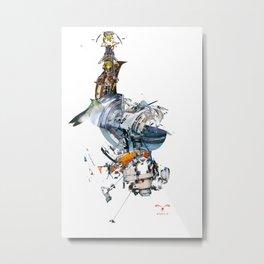 BQ-45 Spacecraft Metal Print