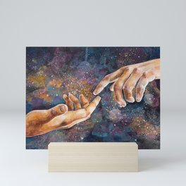 Universe in Hand Mini Art Print