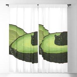 Avocado Cat Blackout Curtain