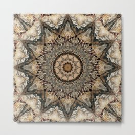 Mandala Isolation Metal Print