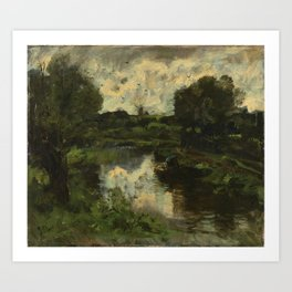 A Polder Landscape after a Thunderstorm, Jacob Maris, c. 1892 Art Print