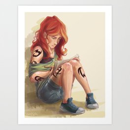 Clary Drawing Art Print