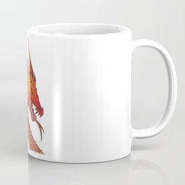 Red Dragon Illustration Coffee Mug