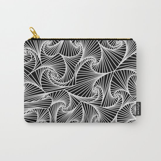Fractal Sketch Dark Carry-All Pouch