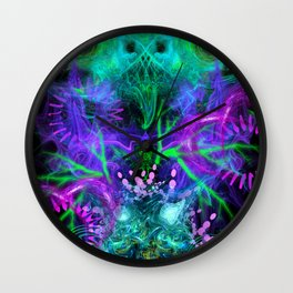 Moonlight Nausea, Starlight Vertigo (abstract, psychedelic, trippy) Wall Clock