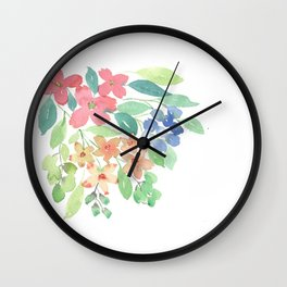 Cluster of flowers Wall Clock