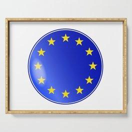 EU Button Serving Tray