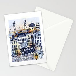 Midnight in Lisbon Stationery Cards